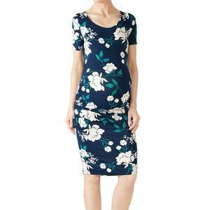 Yumi Kim Blossom Maternity Dress L Navy Floral
